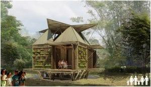 Blooming Bambu casas prefabricadas ecologicas