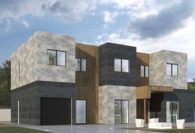 Planificacion de casa prefabricada moderna