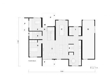 plano de vivienda prefabricada moderna